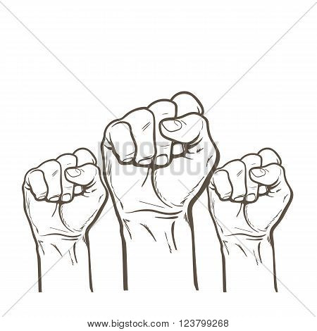 450x470 Raised Fist. Strong Fist On White Vector Amp Photo Bigstock