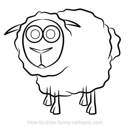 450x454 Sheep Drawing (Sketching + Vector)
