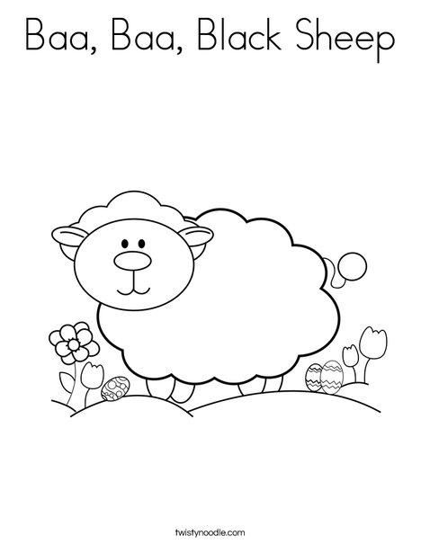 468x605 Baa, Baa, Black Sheep Coloring Page