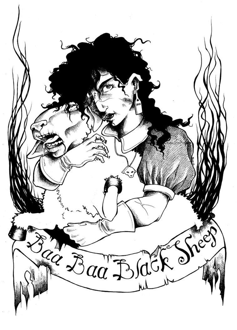 758x1053 Baa Baa Black Sheep By Nico Mac