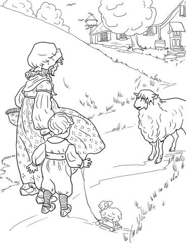 368x480 Baa Baa Black Sheep Coloring Page Free Printable Coloring Pages