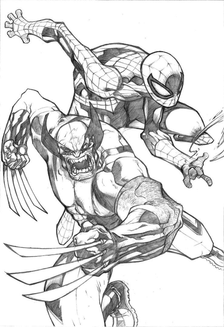 Black Spiderman Drawing