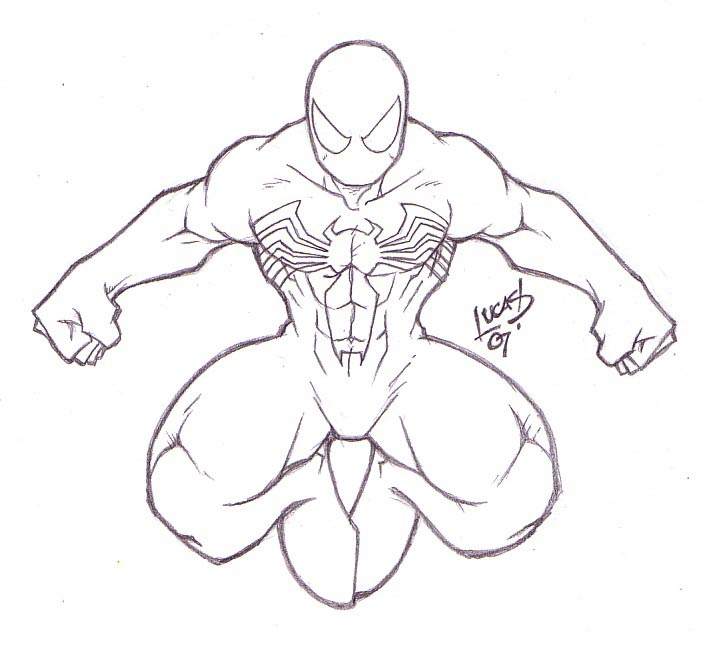 Black Spiderman Drawing At GetDrawings.com | Free For Personal Use Black Spiderman Drawing Of ...