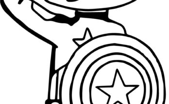 348x215 Drawing Coloring Drawn Coloring Page Captain America. Drawing