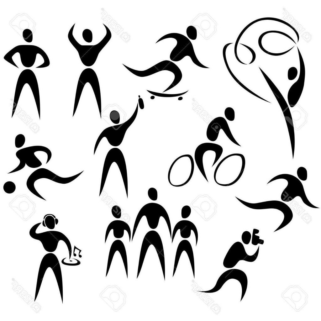 1024x1024 Hd Best Free Top Clipart Black And White Outline Of Person Active