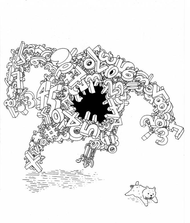 666x780 Math Monster Rune Alexandersen Beauton Art Gallery Drawings