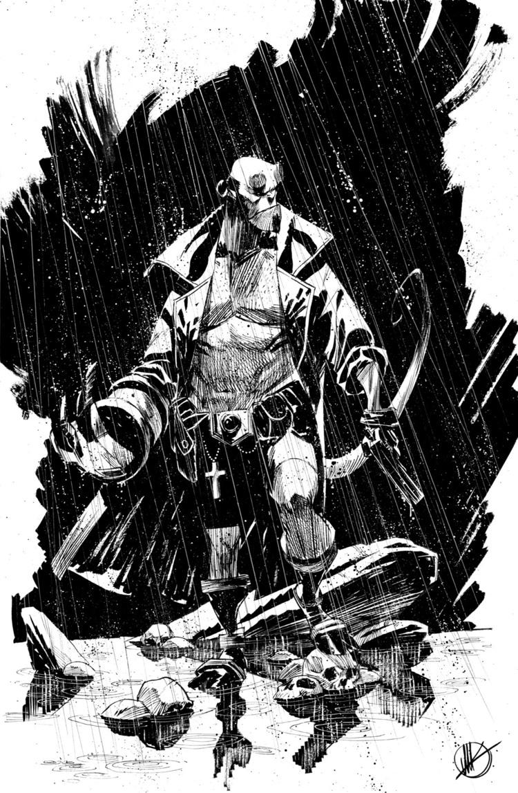 750x1147 Striking Black Amp White Superhero Sketches By Matteo Scalera