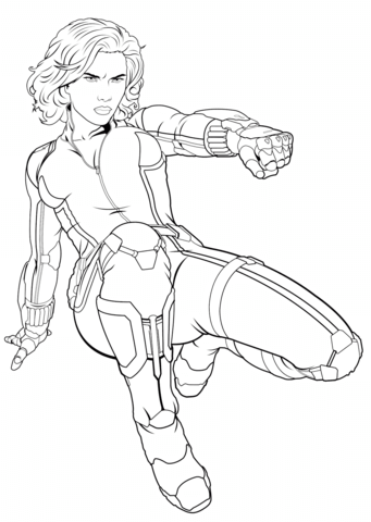 341x480 Avengers Black Widow Coloring Page Free Printable Coloring Pages