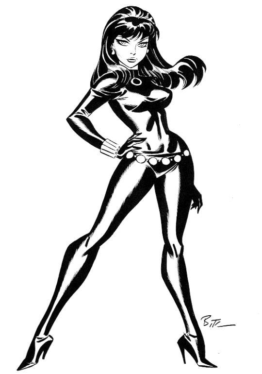 540x770 Jeff Fife Art Black Widow Black Widow Bruce Timm My Pop