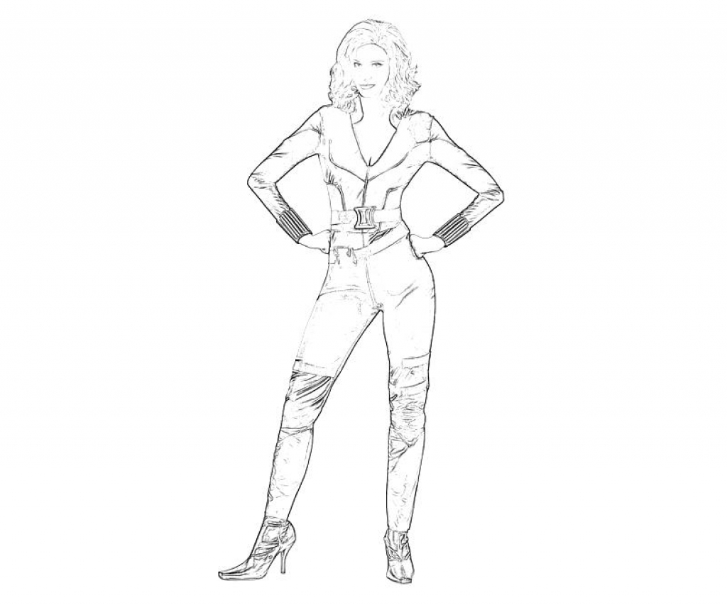 avengers coloring pages black widow - photo#15