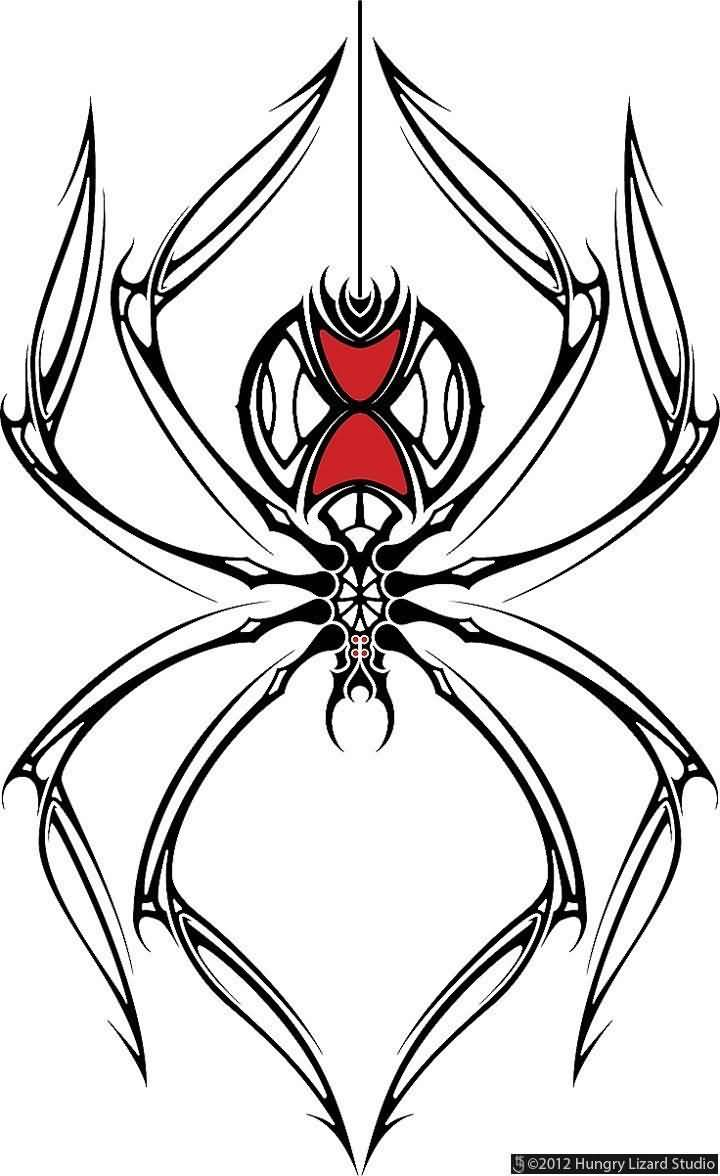 Black Widow Spider Drawing At Getdrawings Com Free For