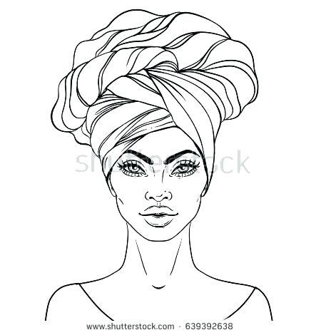 450x470 Beautiful African American Coloring Pages Print As Well Fashion