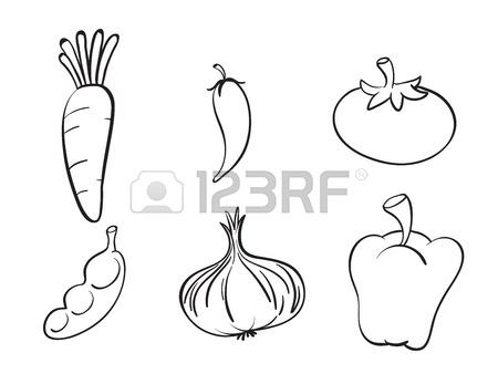 450x347 Set Of Chalk Hand Drawing Vegetables On Blackboard Royalty Free