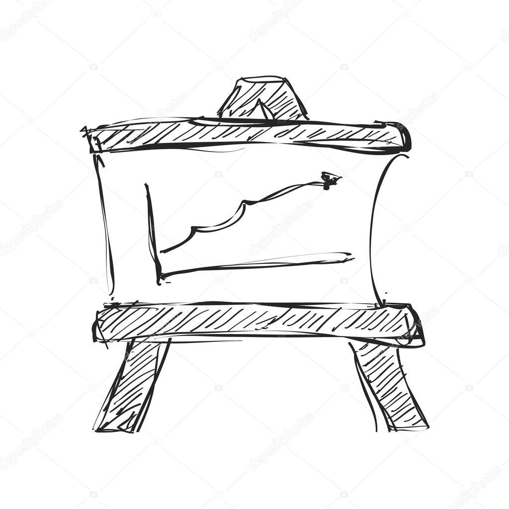 1024x1024 Simple Doodle Of A Blackboard Stock Vector Chrishall