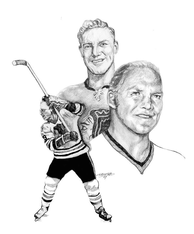 744x900 Chicago Blackhawks Drawings Fine Art America