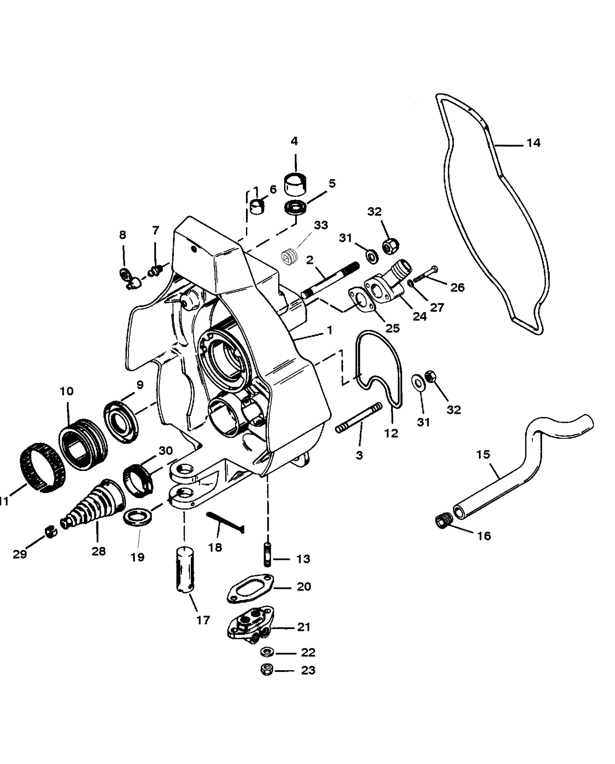 2160x2680 Gimbal Housing For Mercruiser Blackhawk Drivetransom Assembly