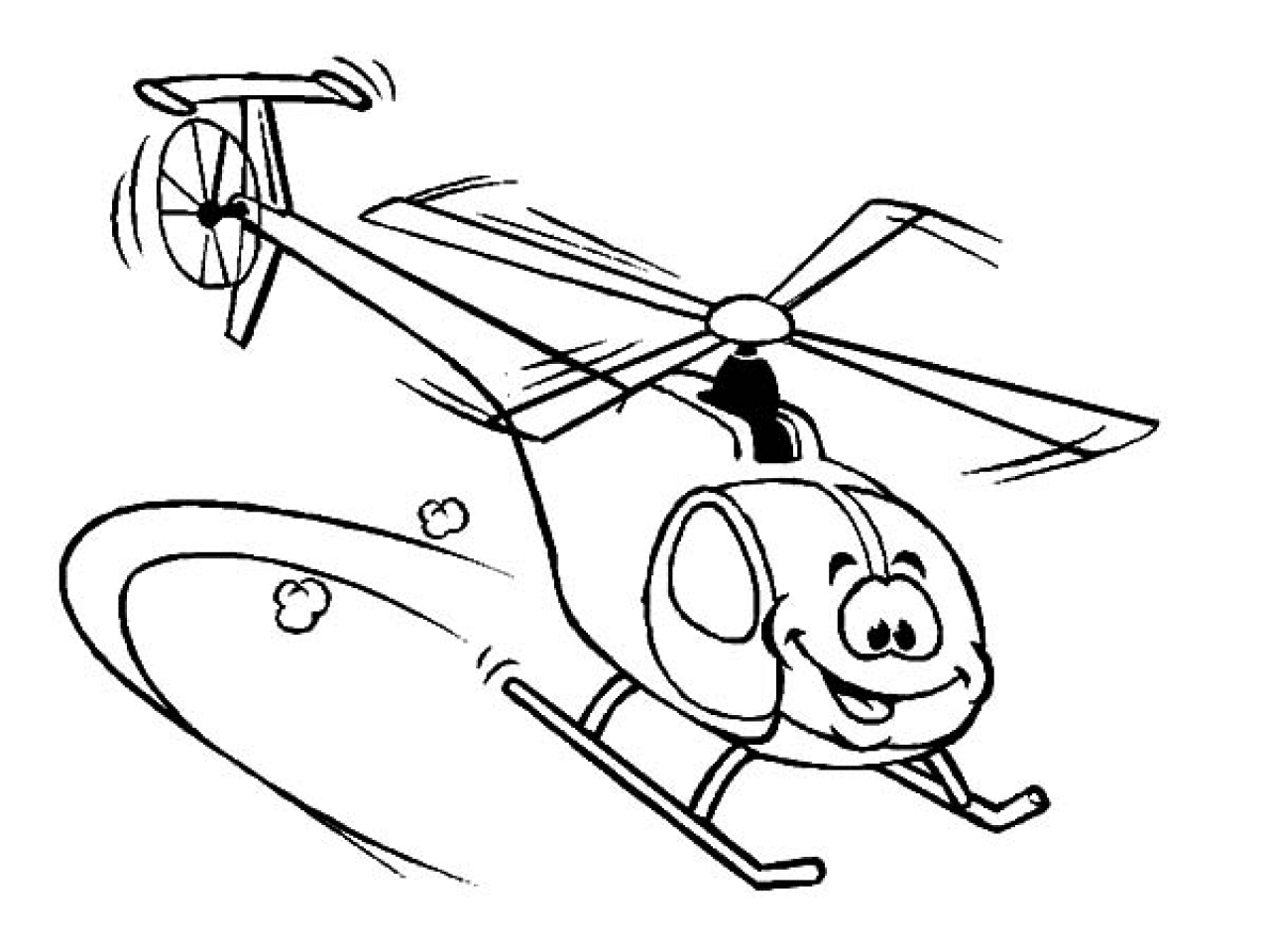 1280x960 Helicopter Coloring Pages