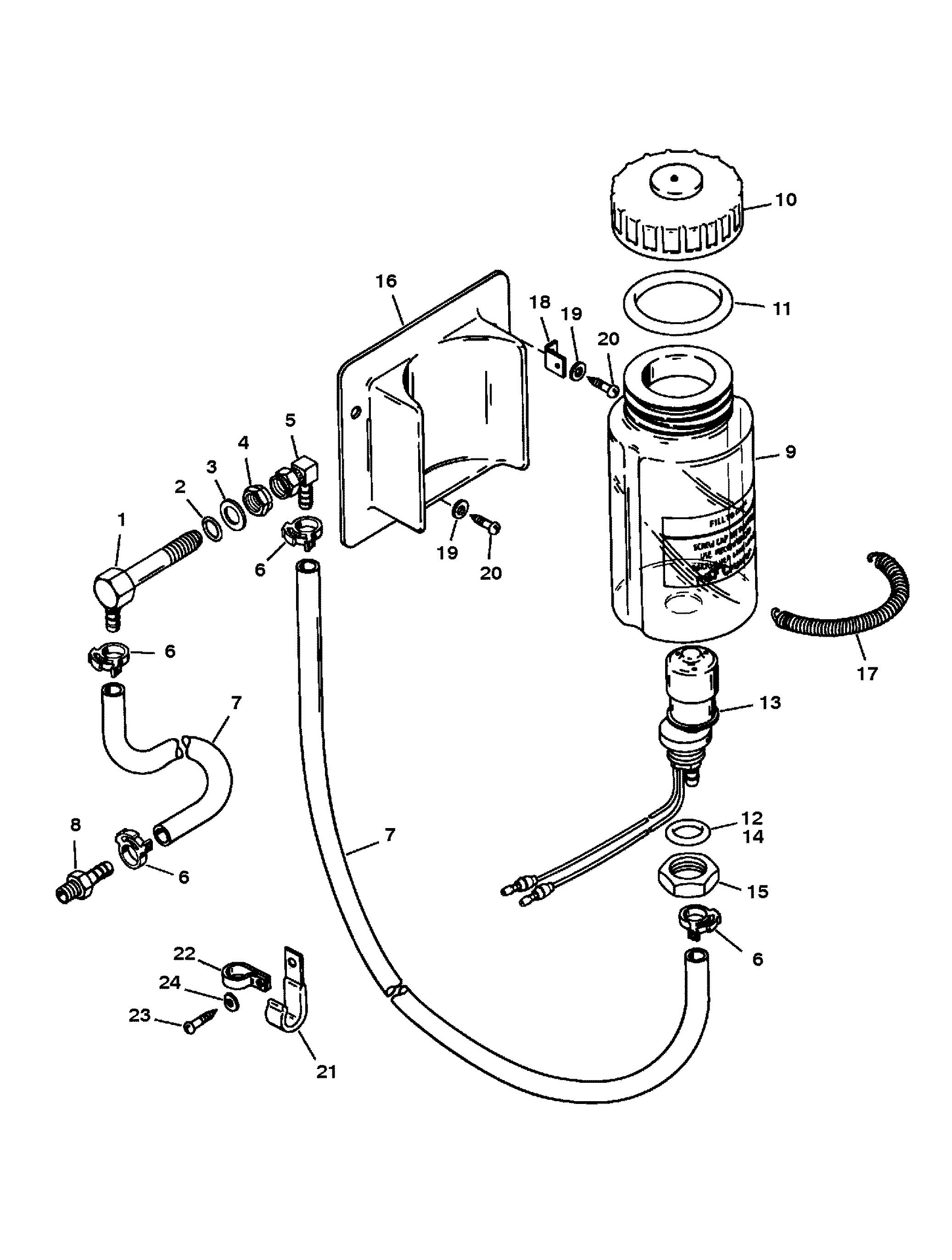 2074x2745 Oil Reservoir Components Round Oil Bottle For Mercruiser Blackhawk