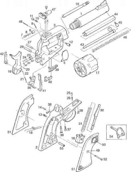 460x605 Ruger Blackhawk Exploded Parts Diagram Revolver