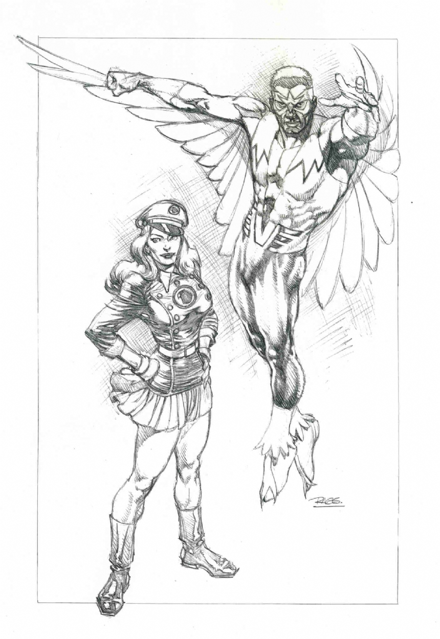 860x1250 The Falcon And Lady Blackhawk Rags Morales, In Michael Rankins'S