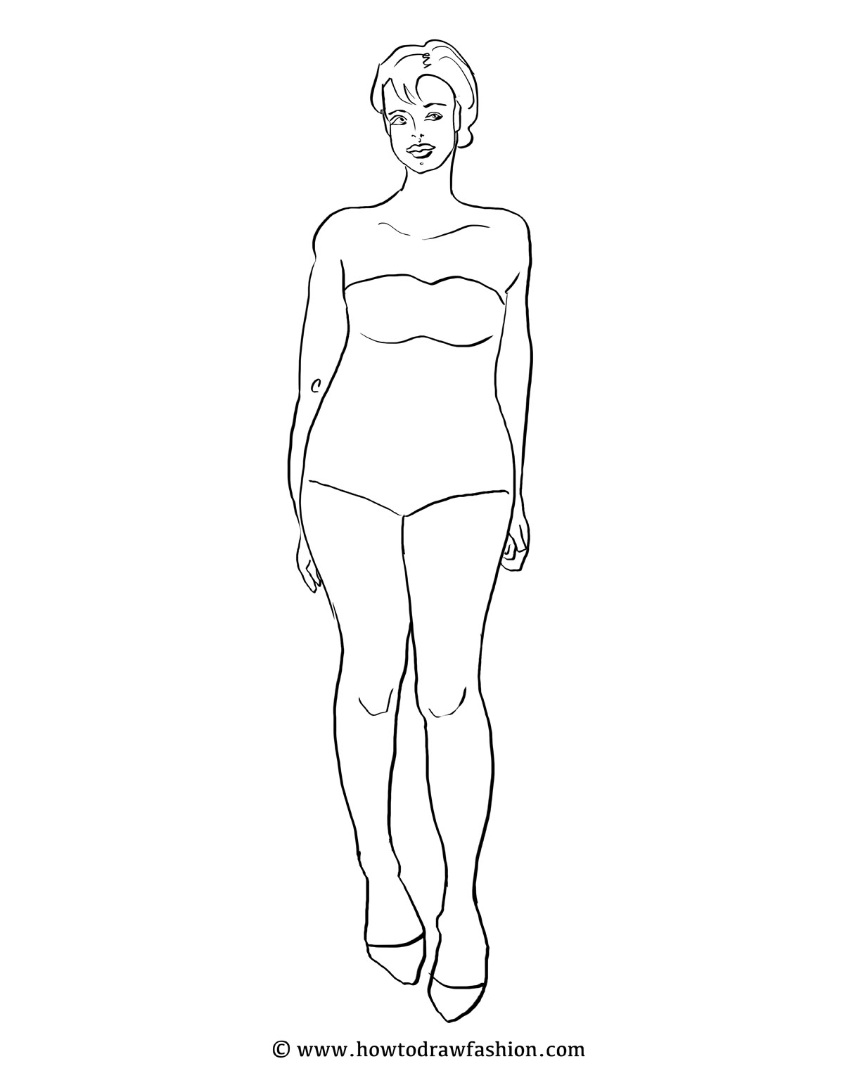 Blank Female Template Costume Topsimages