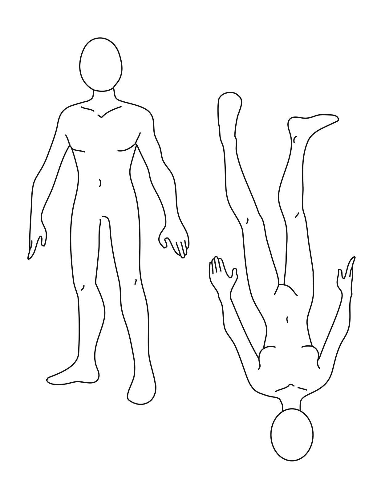 Blank Body Drawing at GetDrawings.com | Free for personal use Blank ...