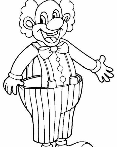 480x600 Clown Coloring Pages For Preschoolers Printable Clown Coloring