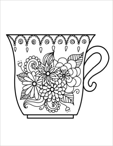 386x499 Blank Book Journal Cup Zentangle Cover Diary Notebook