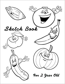 260x336 Sketch Book 2 Year Old 8.5 X 11, 120 Unlined Blank Pages