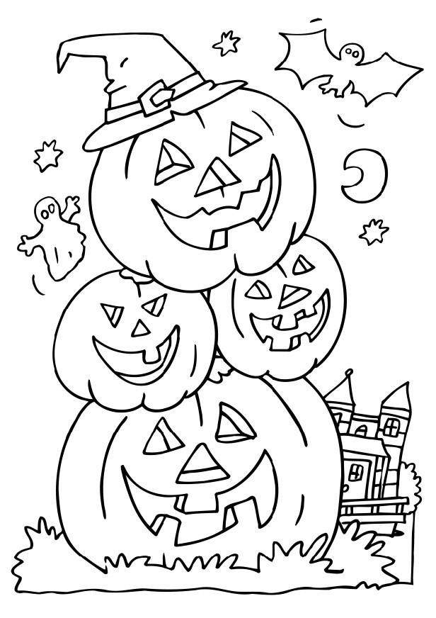 616x872 Coloring Pages Halloween Drawings Kid