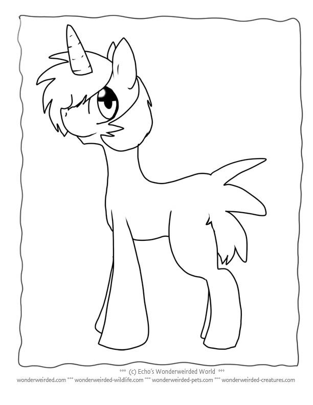 612x792 Unicorn Coloring Pages For Kids Free To Print