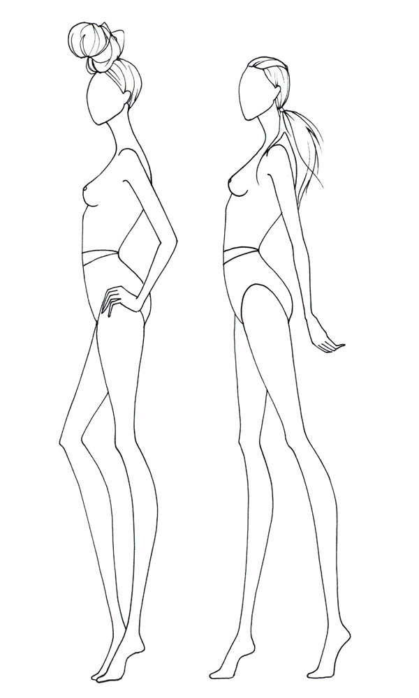 600x1000 Drawn Fashion Template