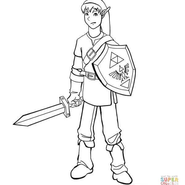 600x600 Link Coloring Pages Coloring Page