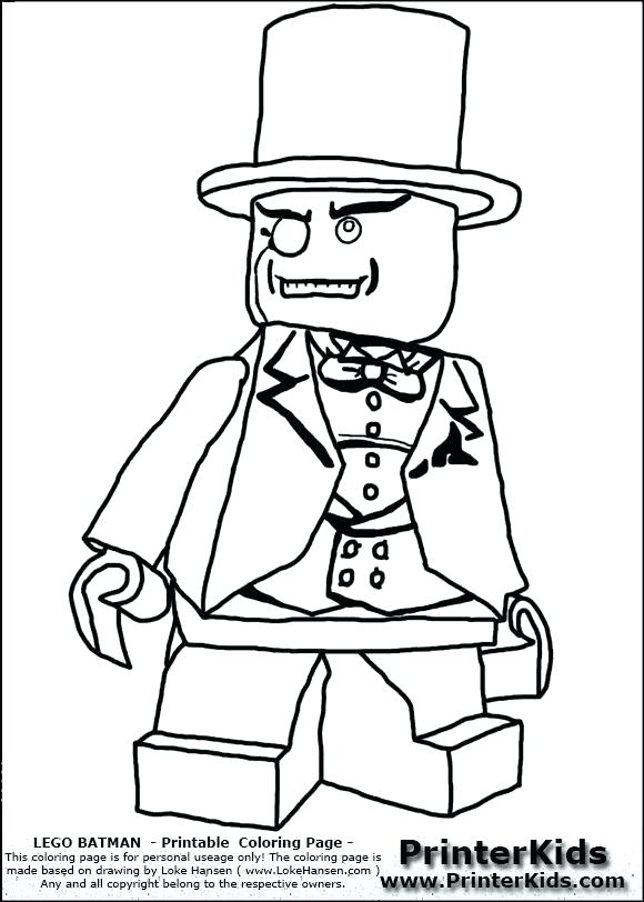 580x812 Lego Minifigure Coloring Pages