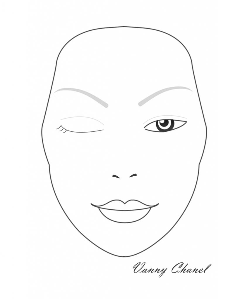 844x1024 Blank Face Makeup Mac Face Sketches Blank Face Template