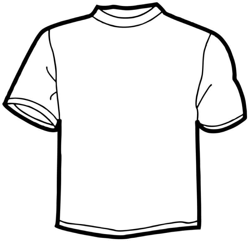 800x768 Download T Shirt Coloring Page