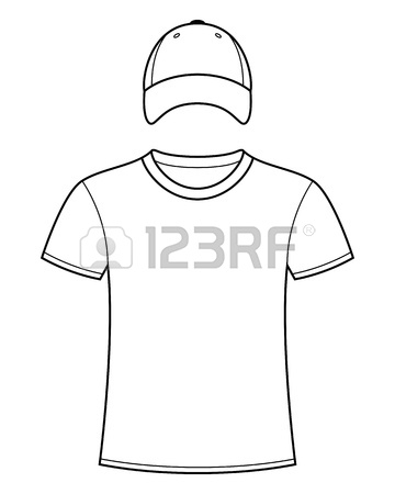 360x450 Blank T Shirts And Caps Template Royalty Free Cliparts, Vectors