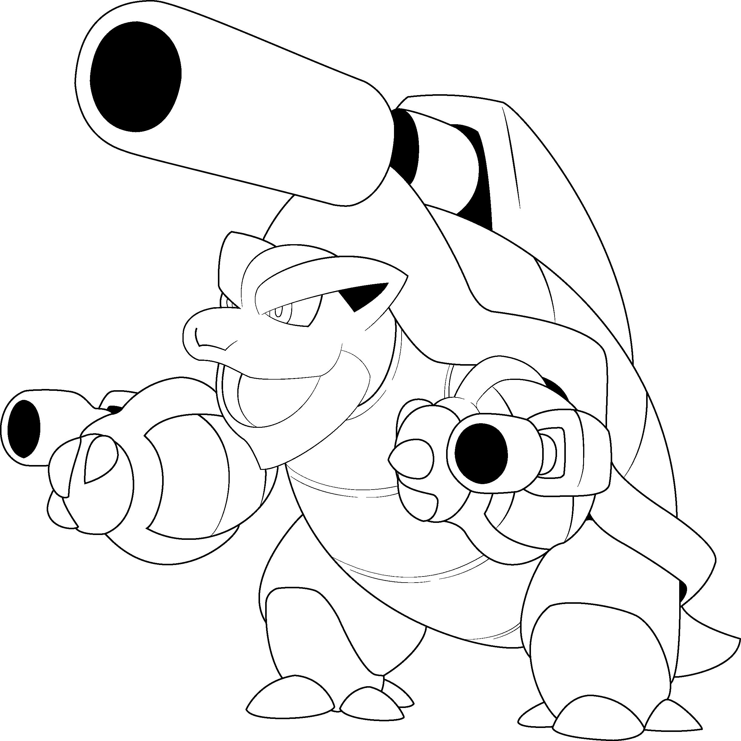2445x2446 Mega Blastoise Lineart By Alcadeas1 Lineart Pokemon (Detailed