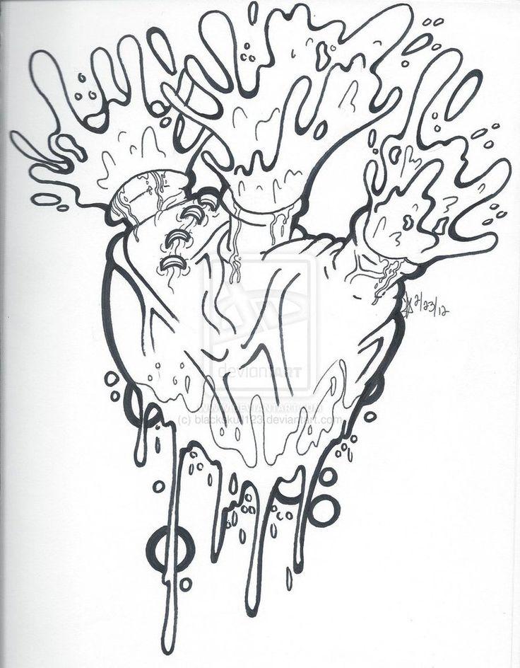Bleeding Heart Drawing