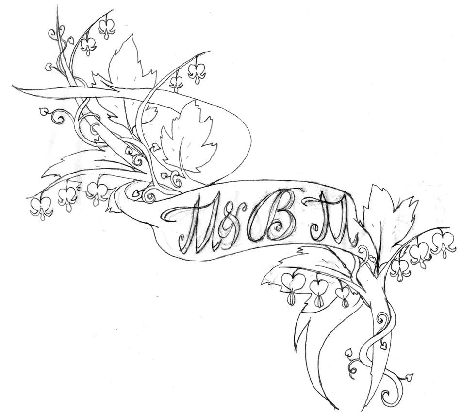 952x858 Heart Vine Drawings Yuri's Tattoo Designs Bleeding Heart Vine