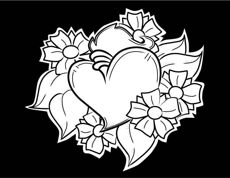 792x615 Heart With Flowers By Gwaraddict