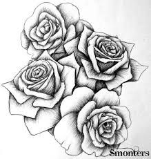 219x230 Image Result For Four Black And Grey Roses Drawing Tattoo Arm
