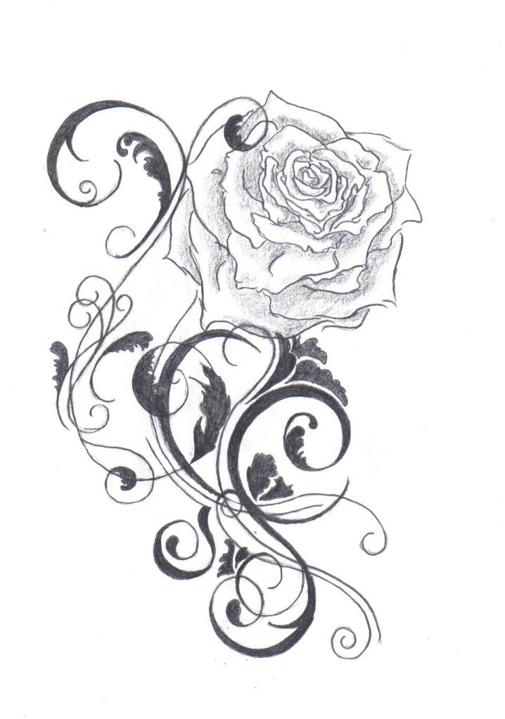 718x1023 Rose Tattoo Ii By Farfallaloduca