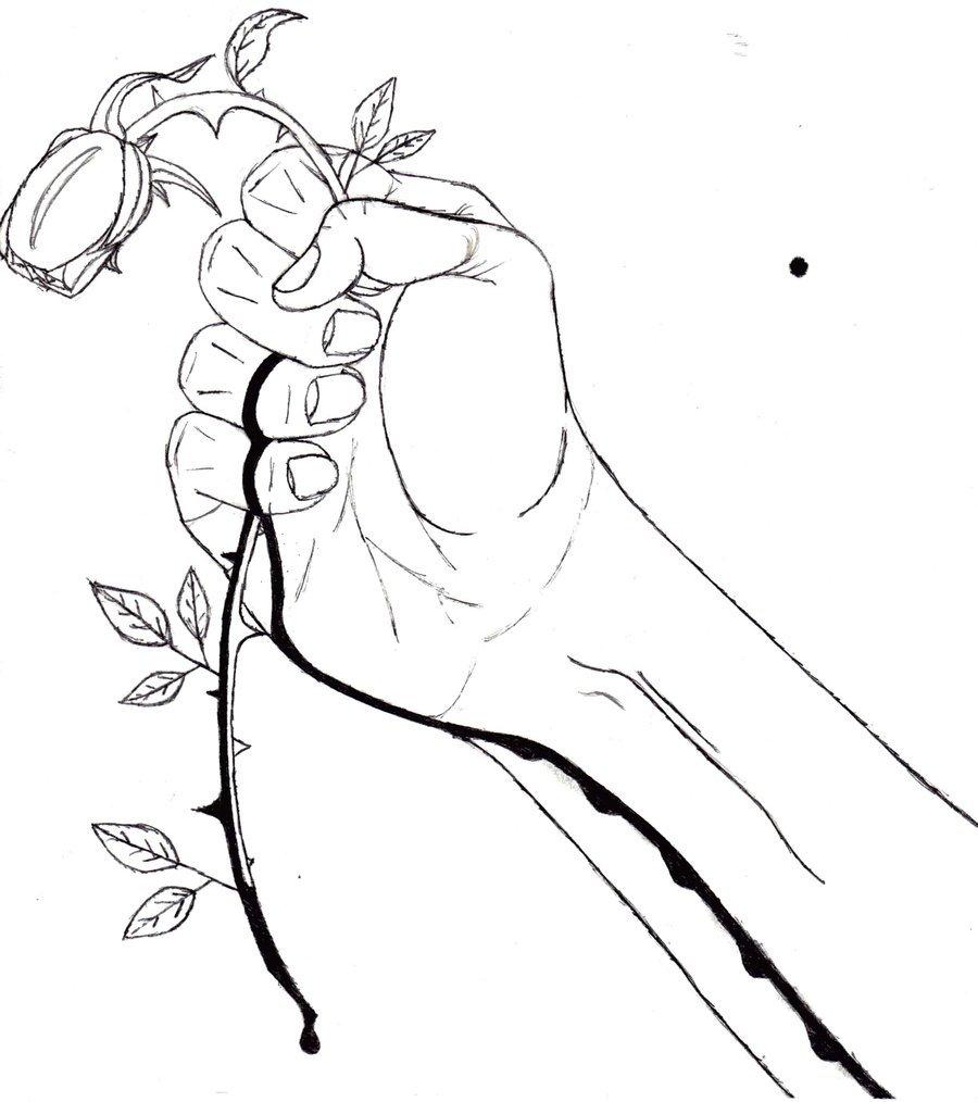 900x1014 Bleeding Rose By Stinklog