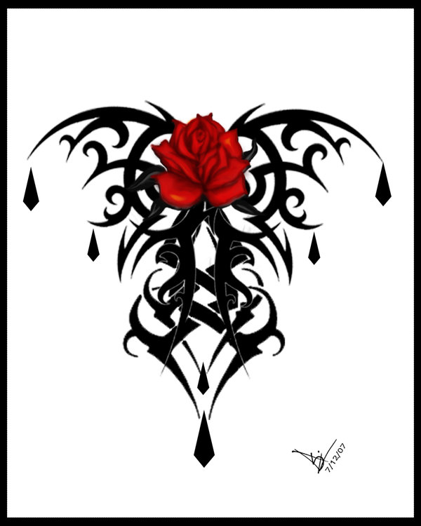 600x750 Bloody Rose By Dreadsgirl
