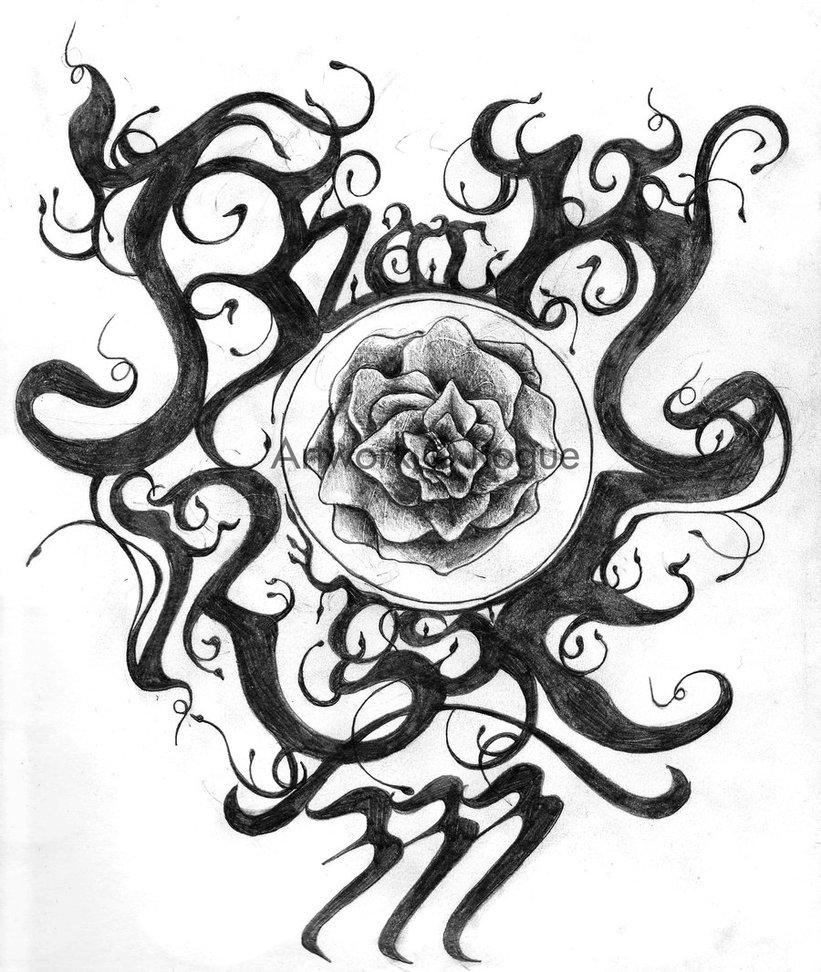 821x972 Black Rose 333 Logo Wip By Black Rose333
