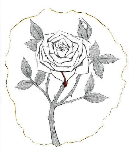 450x532 Bleeding Rose By Nixcore