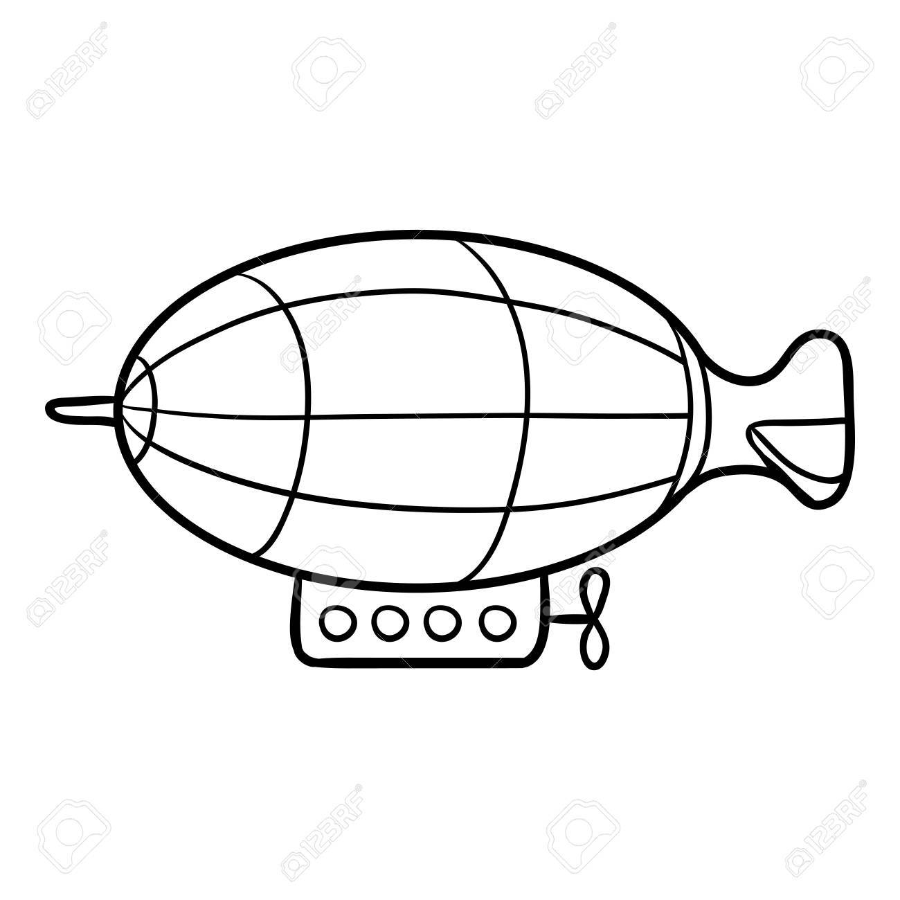 1300x1300 Coloring Book For Children, Airship Royalty Free Cliparts, Vectors