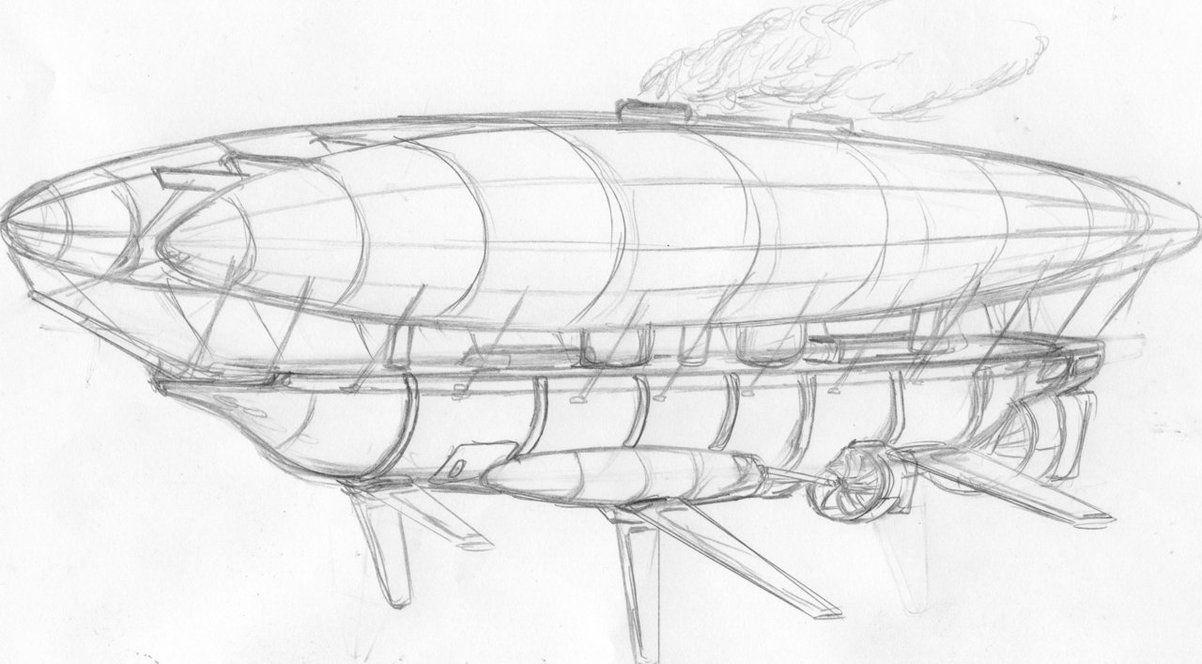 1202x664 Hms Warrior (Steampunk Airship) Wip Zepplin