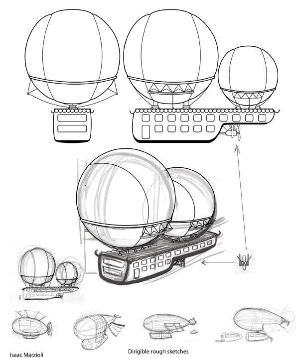 600x719 Isaac Marzioli Illustrations Dirigible Prop